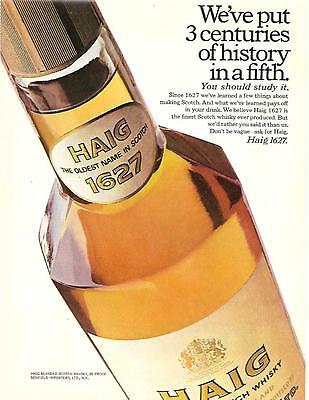 1969 Three Centuries Of History Haig Scotch Whiskey Ad