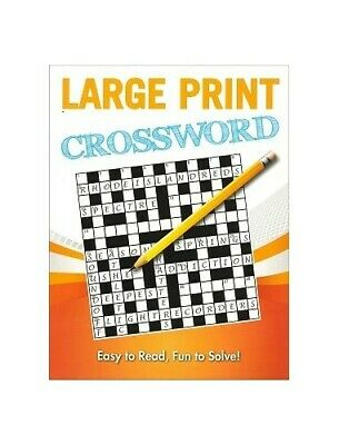 Large Print Puzzles: Crosswords (2) Paperback Book The Cheap Fast Free Post