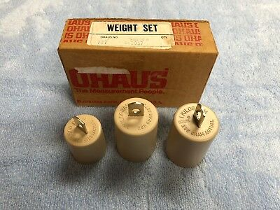 Ohaus 3-Piece Metric Attachment Weight Set 707 (1) 147.5 Gram - (2) 295 Gram