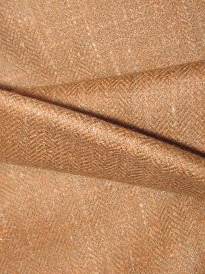 Vintage nwt  salmon ginger twill wool Britex 2 pcs   3yds total SPECTACULAR