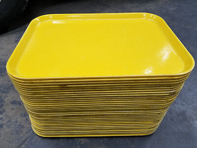 Cambro Camtray Vintage Yellow Serving Tray Lot Of 25