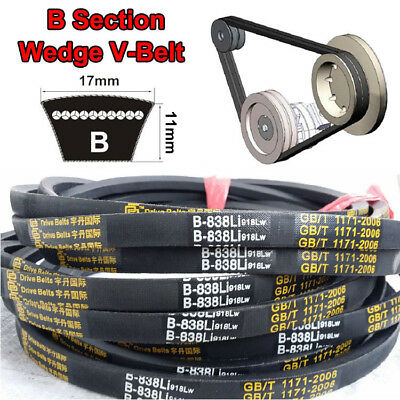 High Quality V Belt B Section 17mm*11mm Sizes B24~B119 For Industrial LawnMower
