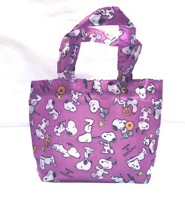 Snoopy Peanuts School Picnic MINI Snack Bag Tote B