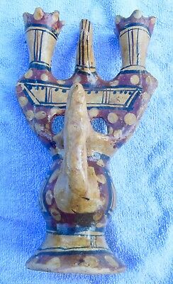 Ideqqi Antique Candlestick, Kabyle, Pottery Berber Algeria Kabylie, Tunisia