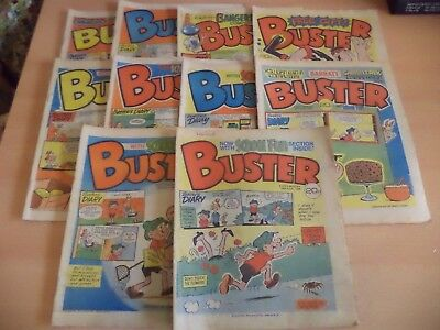 Lot Of 10 Old Vintage Buster British Comic Magazine 1980S June 1984 - Oct 1984