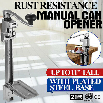 """Commercial 20"""" Can Opener with Plated Steel Base 4-6 cans/min"""