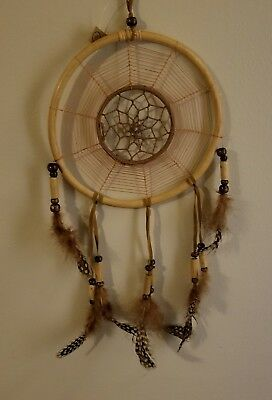 16 INCH Long DREAMCATCHER Wood feather bead handmade LARGE dream catcher