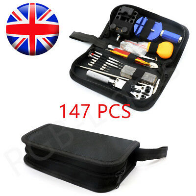 147Pcs Watch Repair Kit Professional Spring Bar Tool Set Pin Link Remover IN UK