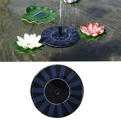 Solar Power Pump Outdoor Fountain Garden Pond Pool Water Feature Kit Submersible