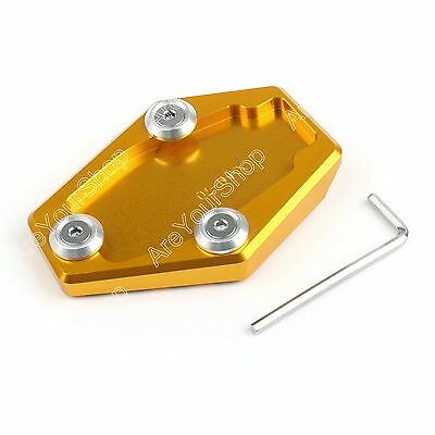 Kickstand Side Stand Plate Pad For Ducati Monster 795 796 821 1200 Gold AU
