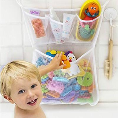 Baby Bath Bathtub Toy Mesh Storage Bag Suction Bathroom Stuff Tidy Net Organizer