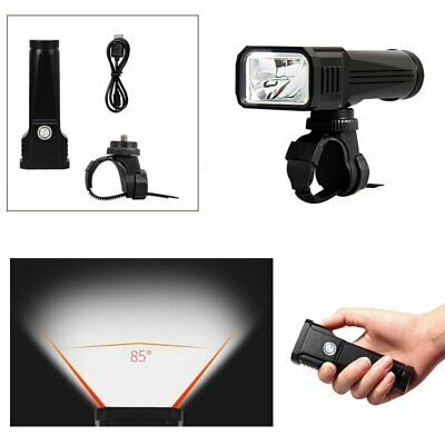 Bike Flashligh Front Light T6 LED USB Rechargeable Germany STVZO Bicycle Cycling