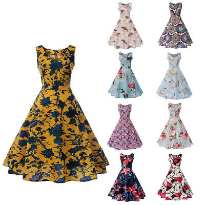 50'S 60'S Rockabilly Dress Vintage Style Swing Pinup Retro Party Evening Dresses