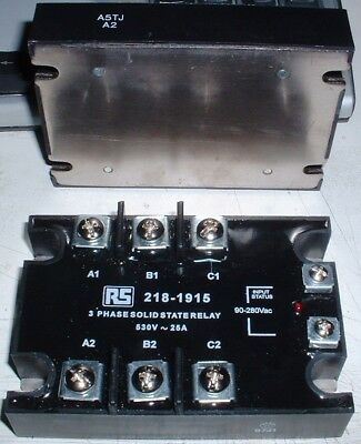 RS 218-1915 Solid State Relay 3 Phase 530V 25A 90-280Vac Input £140RRP
