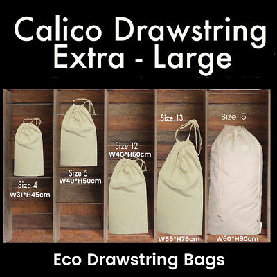 Large Calico Drawstring Bags Storage Drawstring Calico Bags Linen Big Tote Bag