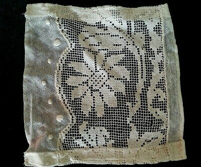 Antique Lace Remnant Filet Net Mix for Vintage Projects Crafts Sewing Etc