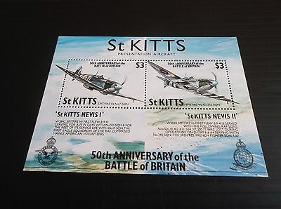 St. Kitts 1990 Sg Ms311 50Th Anniv Of Battle Of Britain Mnh
