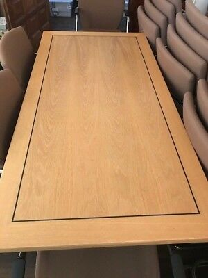 Top Quality rectangular Quinton Cavendish Office Tables - American Oak Veneer
