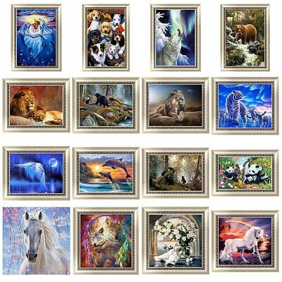 16 Arten Tiere DIY 5D Diamond Painting Diamant Malerei Stickerei Stickpackung
