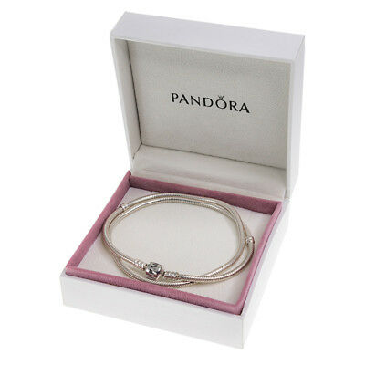 Genuine PANDORA Silver Necklace 590702HV (Diff. Sizes) WITH BOX - RRP £110-£115