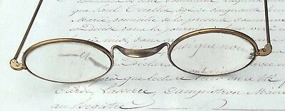 Antique French Spectacles Brass wire frames reading Glasses
