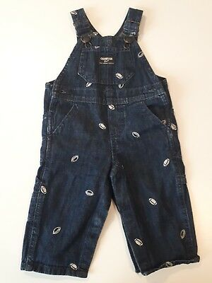 Osh Kosh Dungarees Denim Baby Boys 9 Months American Football New No Tags
