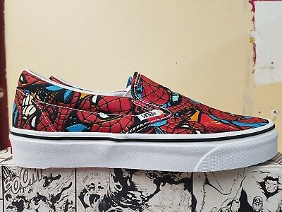 417ca95290 New In The Box Vans Limited Edition Marvel Classic Slip-On Spider-Man For