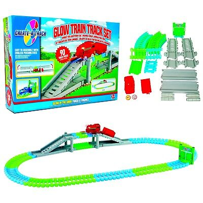 Flexible Train Track Childrens/Kids Light-up Railway Construction Play-Set Toy