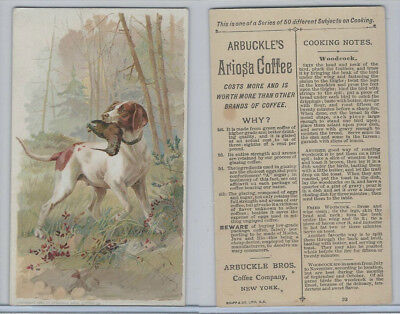 K2 Arbuckle Coffee, Subjects On Cooking, 1890, #23 Woodcock