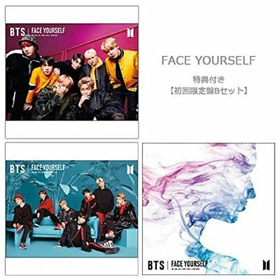 BTS Bangtan Boys FACE YOURSELF ( B set ) CD + DVD Japan Third Full Album New F/S