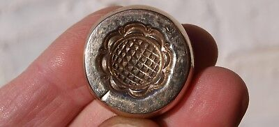 Old Bronze Or Brass Jewellery Making Mould Mold - Floral Round