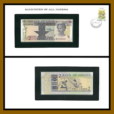 Ghana 2 Cedis, 1982 P-   Banknotes of all Nations Unc