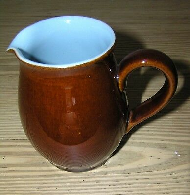Denby Stoneware Homestead Duck Egg Blue And Brown Small Milk/cream Jug 1/2Pt