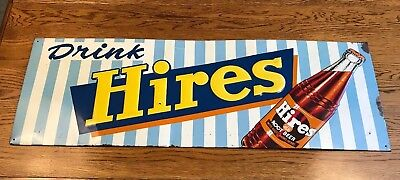 Hires Root Beer Embossed Metal Sign Soda Advertising Sign Country Store