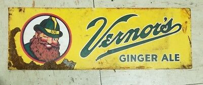 Vernors ginger ale tin sign.