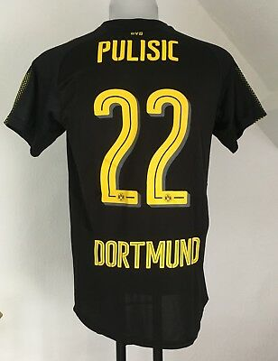 Borussia Dortmund 2017/18 S/s Away Shirt Pulisic 22 By Puma Size Adults Medium