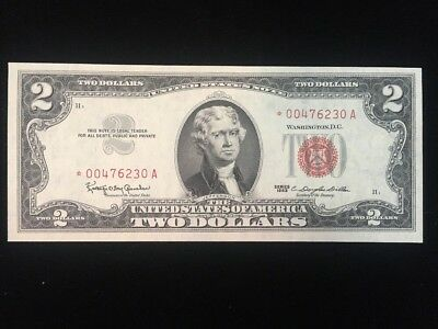 US $2 Red Seal Star Note Series 1963