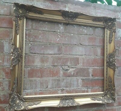 LARGE VINTAGE GOLD Picture Frame Rococo Baroque Shabby Chic - £35.00 ...