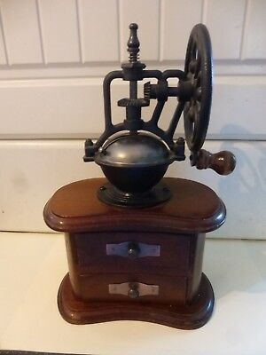 Vintage French Style Coffee Grinder Good Working Condition