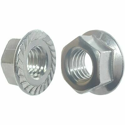 Fourty (40) 3/8-16 Zinc Plated Serrated Flange Hex Lock Nuts (BCP271)