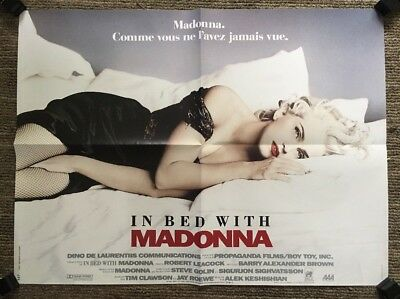 In Bed w/ Madonna Vintage Movie Poster French 1991 Retro Music Pin-up 1990s