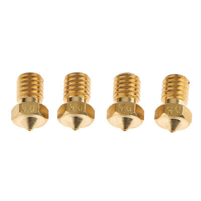 4Pieces 3D Printer Extruder Nozzle for Creality With Different Size