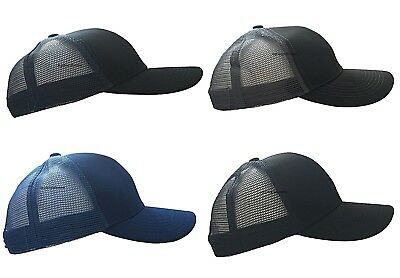 Unisex Classic Plain Baseball Cap Curved Summer Adjustable Trucker Mesh Hat Mens