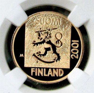 2001 Pm Gold Finland Last Markkaa Coin Ngc Proof 70 Ultra Cameo