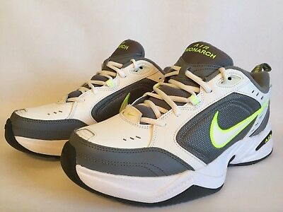 NWT Mens Air Monarch IV Training Shoes Medium Wide White/Cool Grey