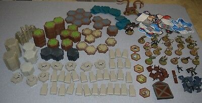 Heroscape Master Set Rise of The Valkyrie PARTS INCOMPLETE Figures Hex Terrain