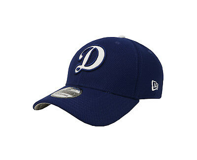 NEW ERA 39Thirty LA Dodgers D Diamond Royal Blue Gray Stretch Fitted Cap  Men Hat 147be6e53bd1