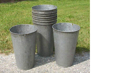 15 VERY NICE Vintage OLD GALVANIZED Maple Syrup Sap Buckets TAPERED W@W