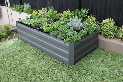 Greenlife Large Galvanised Metal Raised Garden Bed with 4 x Internal Supports
