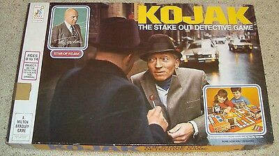 VINTAGE Board GAME KOJAK THE STAKE OUT DETECTIVE GAME NOT COMPLETE